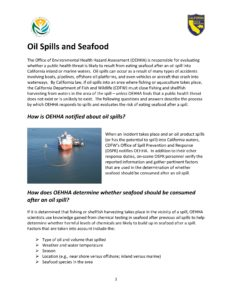 Oil Spills and Seafood Factsheet PDF