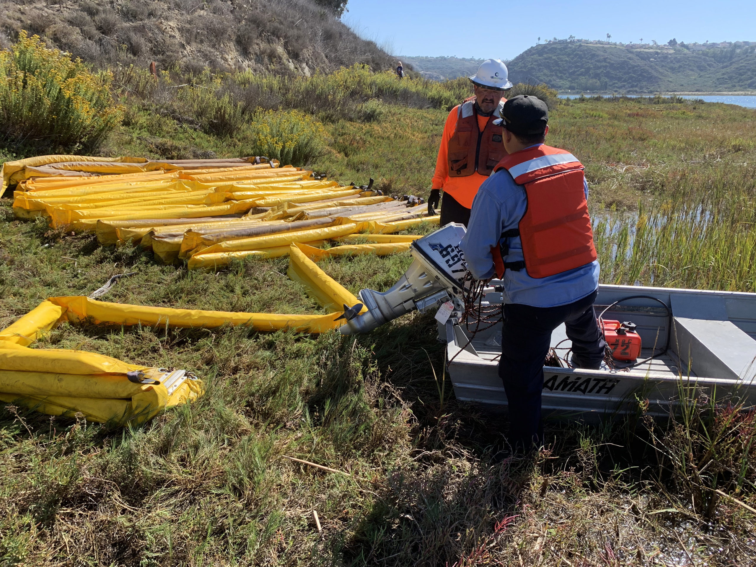 Contractors worked alongside federal, state and local partners to proactively deploy a boom
